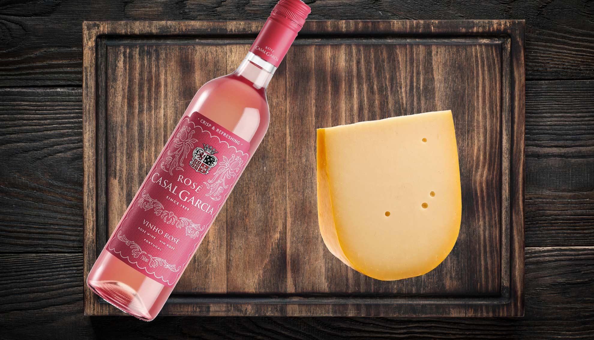 Roseeviini ja juusto - gouda