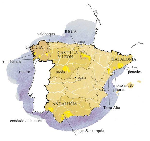 Espanjan viinialueet