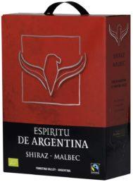 Espíritu de Argentina Shiraz Malbec  hanapakkaus