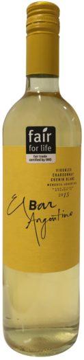 El Bar Argentino Viognier Chardonnay Chenin Blanc 2015